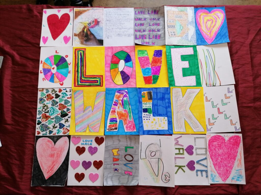 Love Walk art for Camberwell Festival