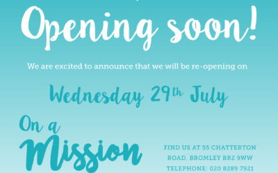 On a Mission shop and Mission Cafe to open again soon!