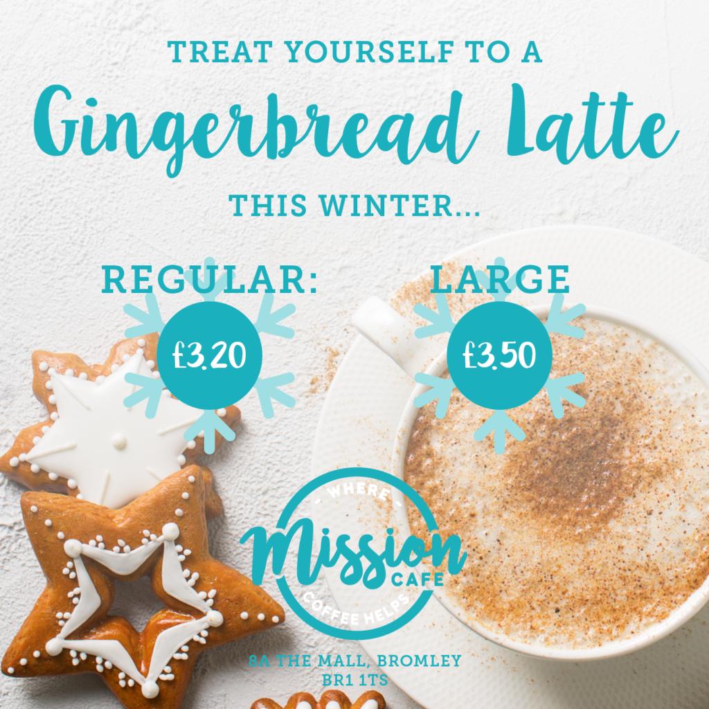mission cafe bromley gingerbread latte