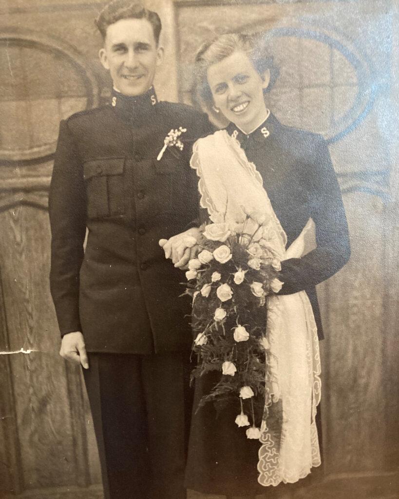 Eva & Ted on their wedding day